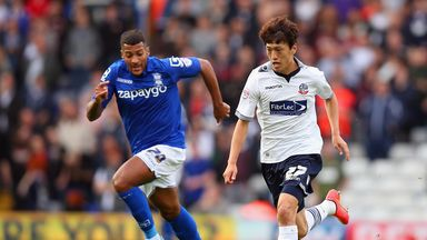 Lee Chung-yong (right): Impressed Bolton boss Neil Lennon