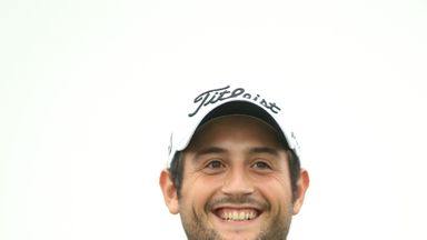 Alexander Levy smiles during the third round of the BMW Masters at Lake Malaren