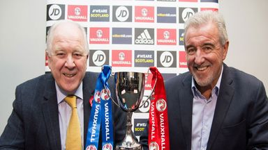 Former Scotland and England managers Craig Brown and Terry Venables