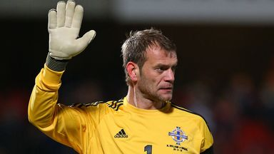 Roy Carroll: Set to win his 38th cap against Romania on Friday