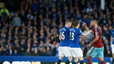 Tempers flare at Goodison Park after James McCarthy's tackle on Morgan Amalfitano