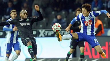 Jimmy Briand (left) was on the scoresheet for Hannover