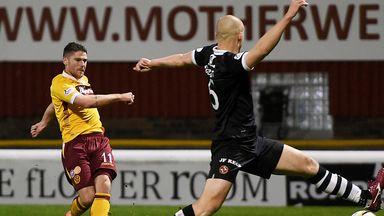 Iain Vigurs: Cracks home the opening goal at Fir Park
