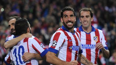 Raul Garcia and Atletico Madrid celebrate