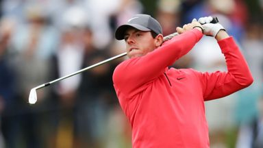 Rory McIlroy in action in round one