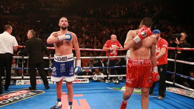 Tony Bellew celebrates defeating bitter rival Nathan Cleverly