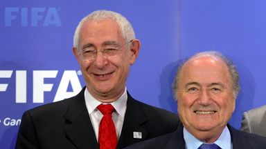 Lord Triesman and FIFA president Sepp Blatter in more harmonious times in 2010