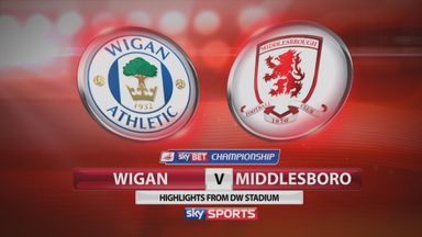 Wigan 1-1 Middlesbrough