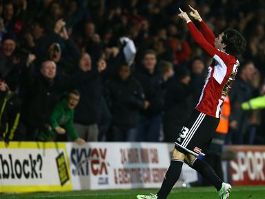 Jota celebrates his dramatic late winner for Brentford