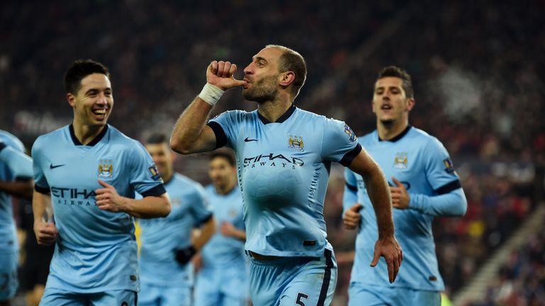 Pablo Zabaleta: Scored for Man City at Sunderland in midweek