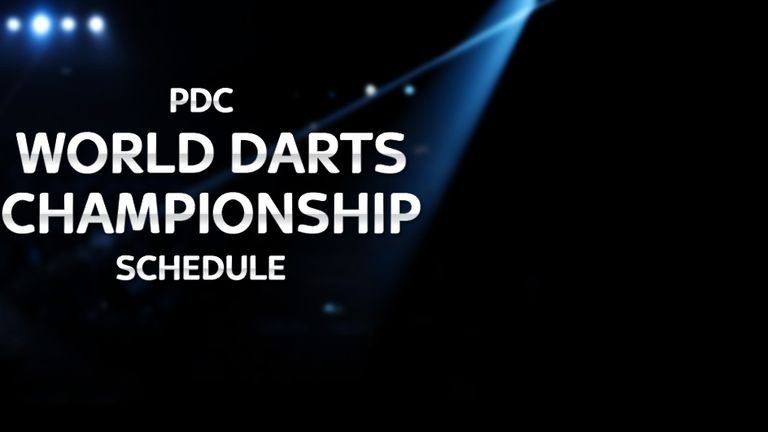 pdc darts world championship schedule