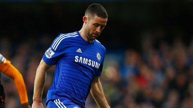 Gary Cahill: Will be replaced by Kurt Zouma at Derby on Tuesday