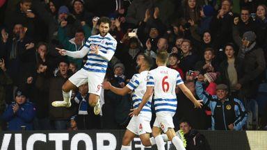 QPR's hero Charlie Austin celebrates