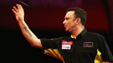 Darren Webster: Knocked out former finalist Simon Whitlock