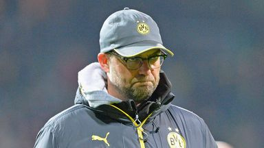 Klopp saw his Dortmund side held to a goalless draw at Leverkusen