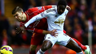 Nathan Dyer: Swansea are two points off a Europa League spot