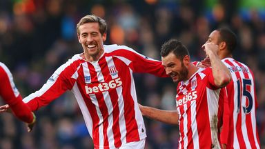 Peter Crouch of Stoke celebrates