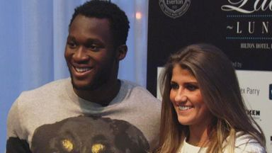 Romelu Lukaku at a function in Liverpool on Tuesday