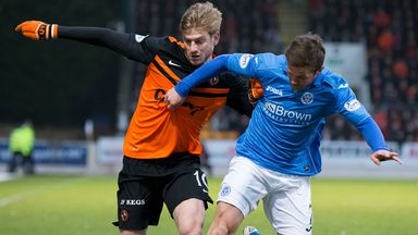 Chris Millar (right): Late winner punished Dundee United