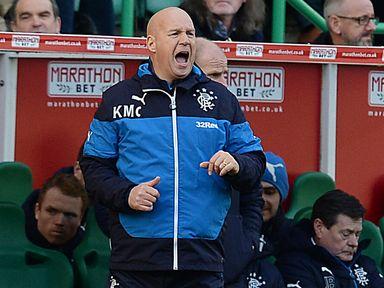 Rangers caretaker manager Kenny McDowall watched his side lose 4-0 at Hibernian