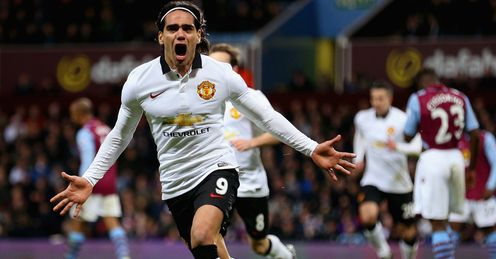 Radamel Falcao: Striker celebrates his goal on Saturday