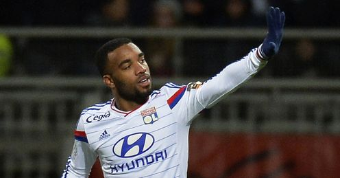 Lyon forward Alexandre Lacazette is a target for Newcastle