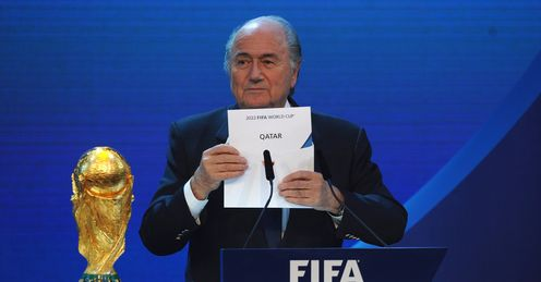 Sepp Blatter names Qatar as the winning hosts of 2022