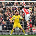 Laurent Koscielny: Scores header against Stoke last weekend