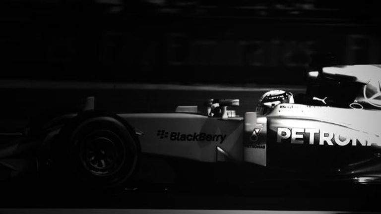 Sarah Warwick via Twitter: Lewis Hamilton in black and white at Silverstone