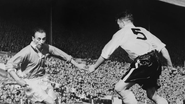 Sir Stanley Matthews (left) was the very first winner of the Ballon d'Or in 1956