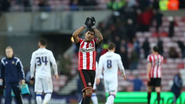 Match Winner: van Aanholt applauds the home supporters at full-time