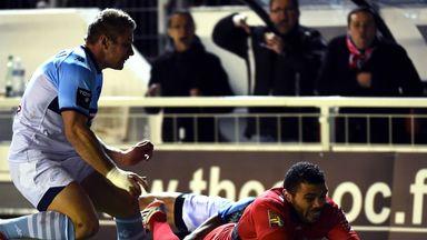 Bryan Habana scores for Toulon