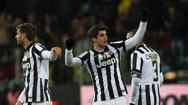 Alvaro Morata: Celebrates his late winning goal