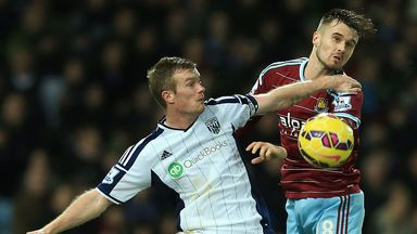 Chris Brunt: West Brom midfielder clashes with Carl Jenkinson  at Upton Park