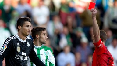 Ronaldo: handed two-match ban according to Spanish league