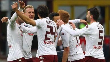 Emiliano Moretti celebrates victory with his team-mates