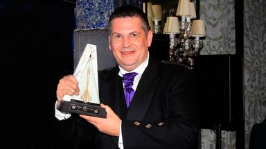 Gary Anderson: Proud Scot displays one of his four PDC awards