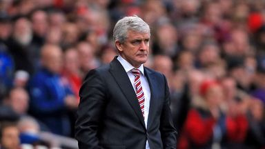Mark Hughes: The Stoke boss was not happy with his team's play in the final third.