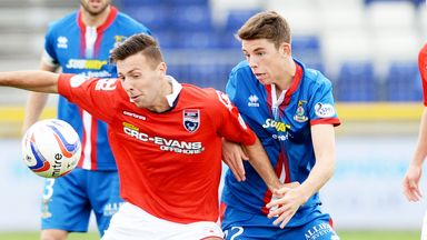 Lewis Toshney (l) of Ross County and Ryan Christle of Inverness Caley are set to do battle again
