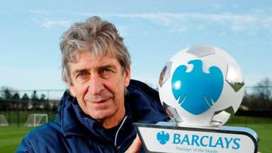 Manuel Pellegrini: Named Manager of the Month