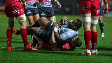 Mathieu Bastareaud: Scored the opening try for Toulon