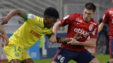 Goalscorer Jonathan Delaplace in action for Lille at Nantes