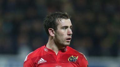 JJ Hanrahan: Starts at full-back for Munster