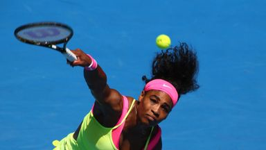 Serena Williams: Will face fellow American Madison Keys in the Australian Open semi-finals