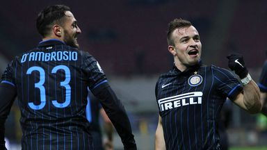 Xherdan Shaqiri: Hoping to help Inter climb Serie A table