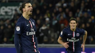 Zlatan Ibrahimovic scores the only goal of the game for PSG