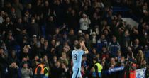 Frank Lampard applauds the Chelsea fan at the end of the 1-1 draw