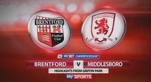 Brentford 0-1 Middlesbrough