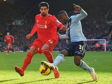 Emre Can closes down Enner Valencia