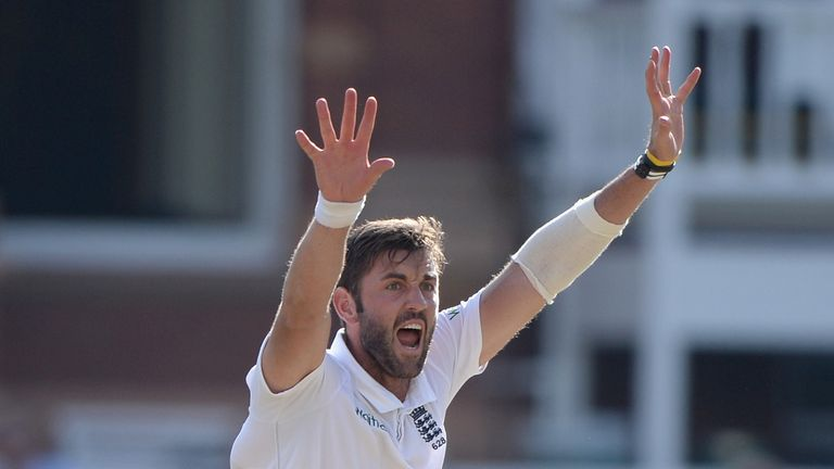Liam Plunkett of England unsuccessfully appeals during day three of 2nd Investec Test match between England and India at Lord's